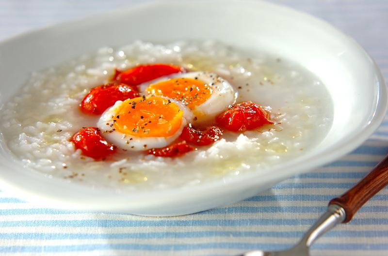 トマトと卵のイタリアン粥