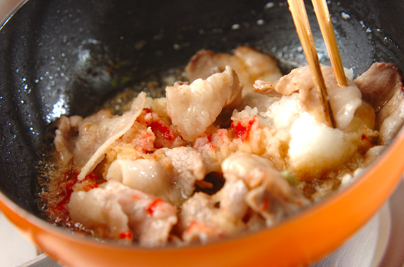 梅おろし豚丼の作り方の手順5
