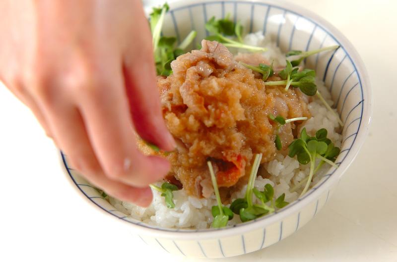 梅おろし豚丼の作り方の手順6