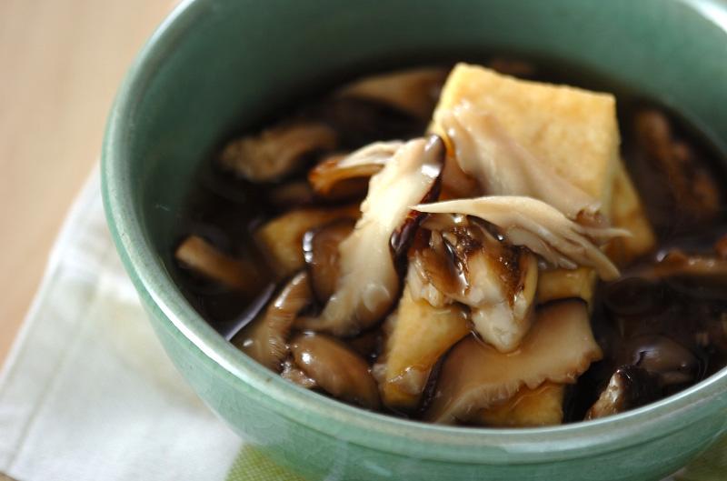 キノコあんの揚げ出し豆腐