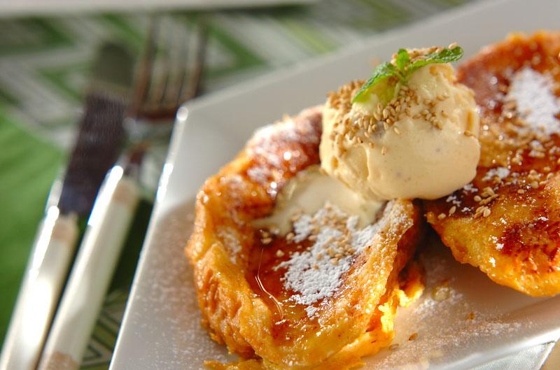 ゴマのフレンチトーストの作り方の手順