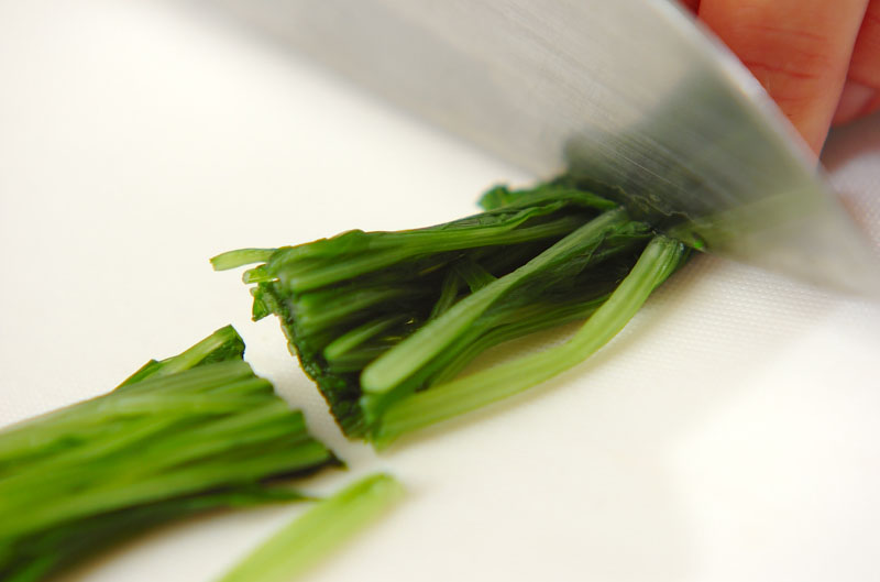 ナメコと水菜のおろし和えの作り方の手順1
