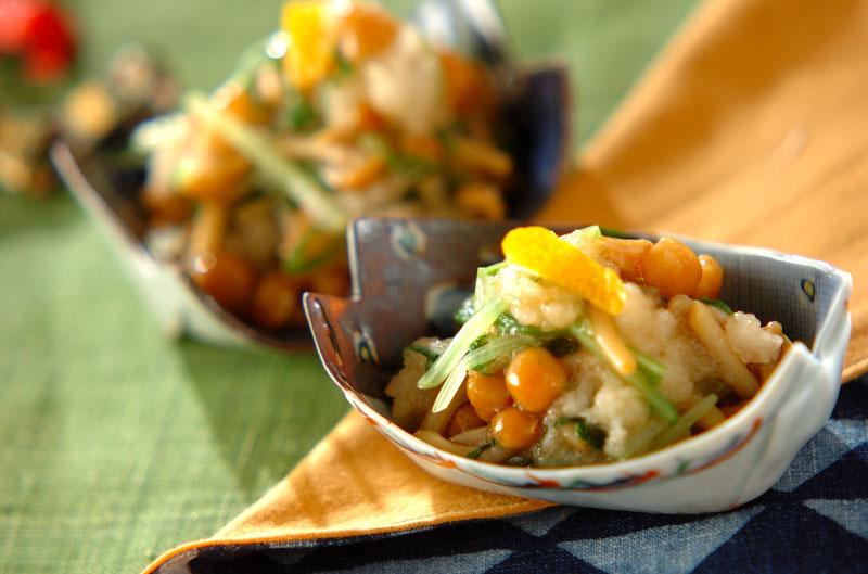 ナメコと水菜のおろし和えの作り方の手順