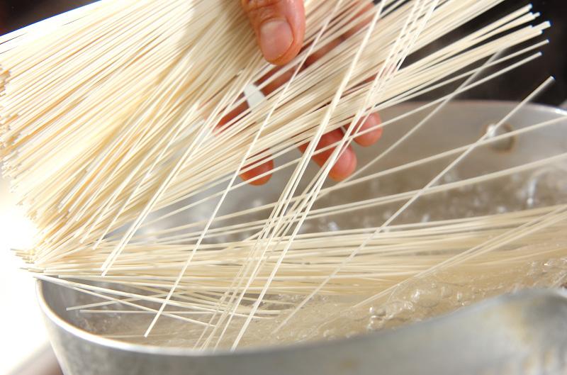 干物入りおろし素麺の作り方の手順4