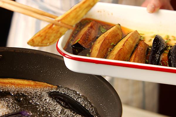 中華風揚げナスマリネの作り方の手順4