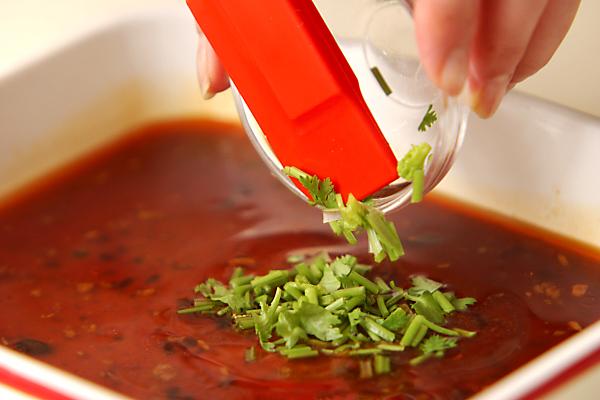 中華風揚げナスマリネの作り方の手順3