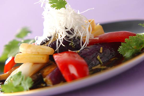 中華風揚げナスマリネの作り方の手順