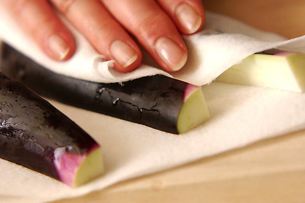 中華風揚げナスマリネの作り方の手順1