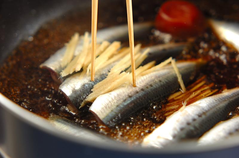 イワシのショウガ煮の作り方の手順2