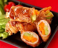 豚肉の野菜巻きの作り方の手順
