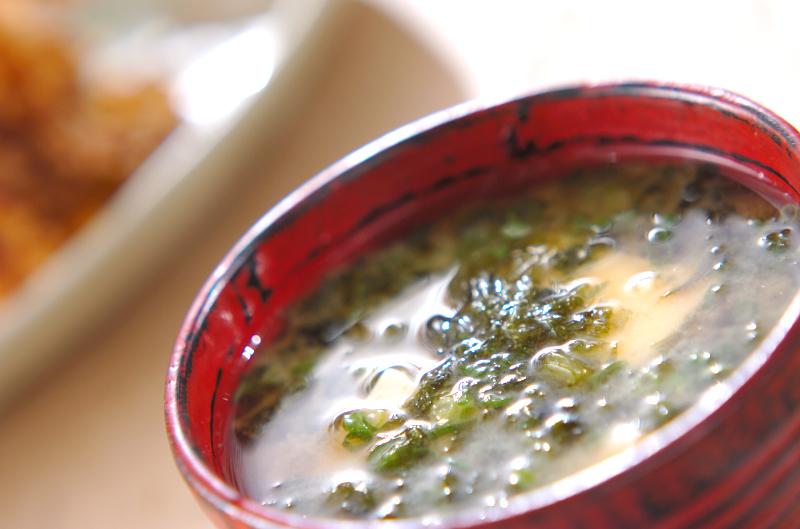 アオサのみそ汁の作り方の手順