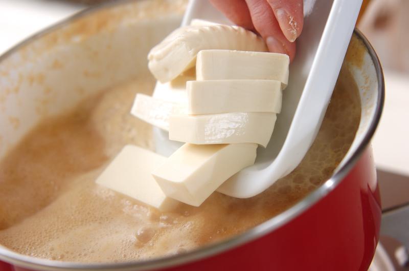 アオサのみそ汁の作り方の手順3