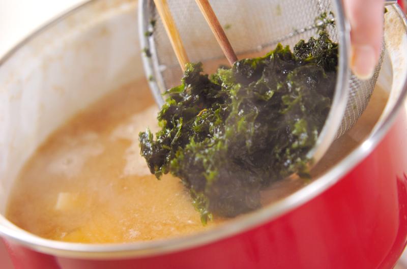 アオサのみそ汁の作り方2