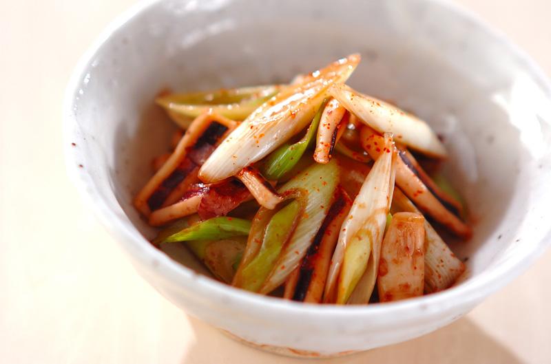 ネギとイカの甘辛炒めの作り方の手順