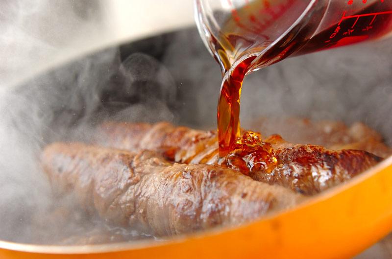牛肉のネギ巻きの作り方の手順2