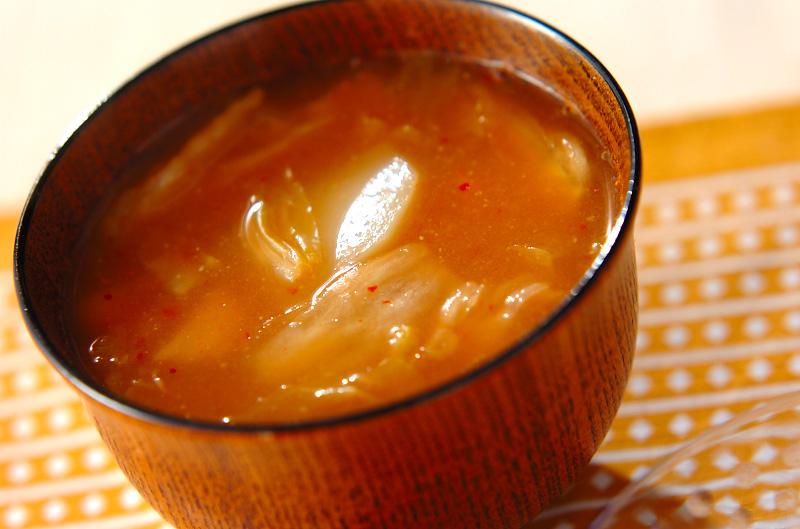 ジャガイモとキムチのみそ汁の作り方の手順