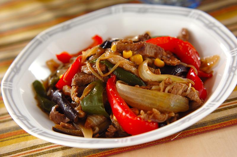 牛肉と野菜のオイスター炒めの作り方の手順