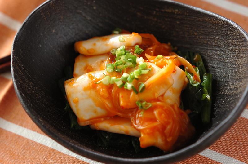 イカのピリ辛炒めの作り方の手順