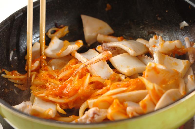 イカのピリ辛炒めの作り方の手順8