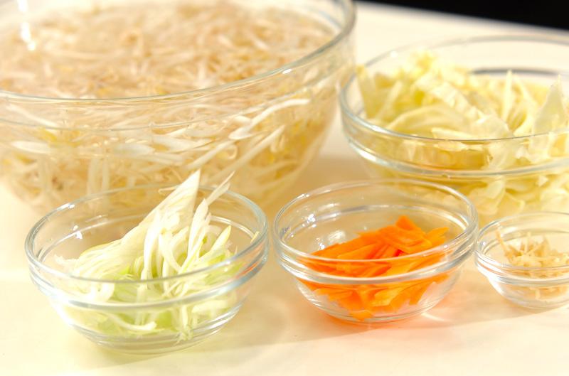 モヤシ炒めのあんかけの作り方の手順1