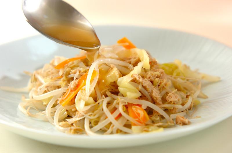モヤシ炒めのあんかけの作り方の手順7