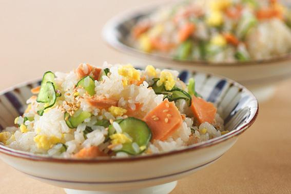 塩鮭の混ぜずしの作り方の手順