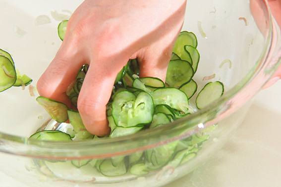 塩鮭の混ぜずしの作り方の手順2