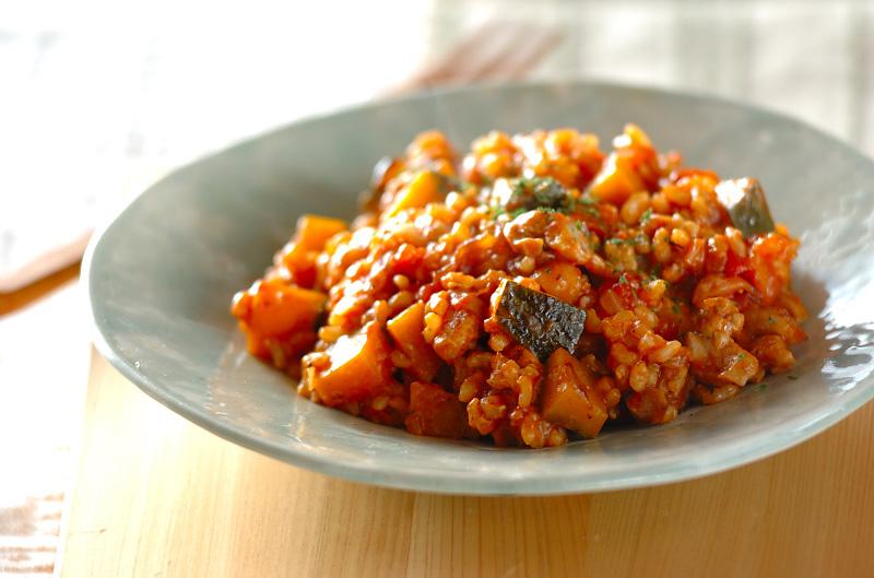 玄米のトマトリゾット
