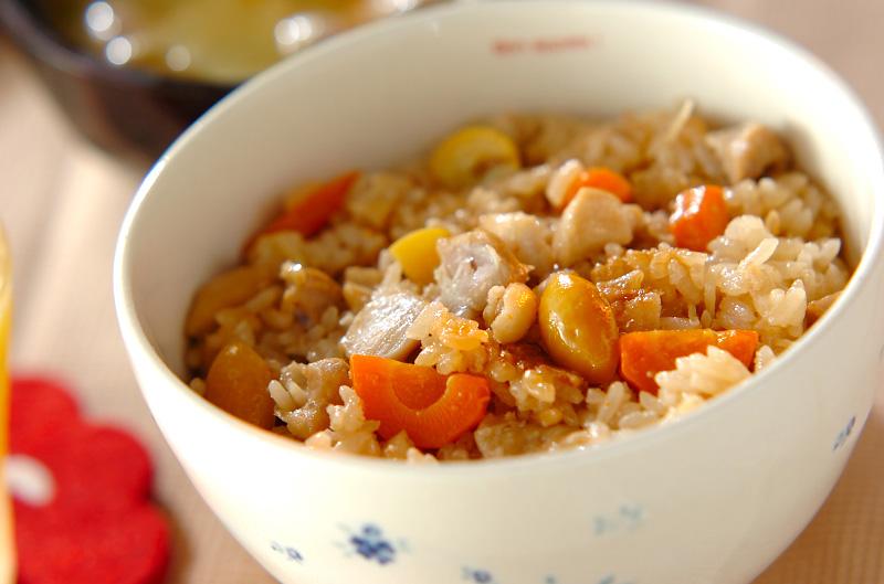 鶏肉の洋風炊き込みご飯の作り方の手順