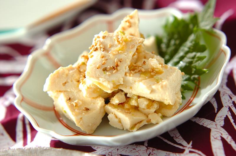 くずし豆腐の香味和え