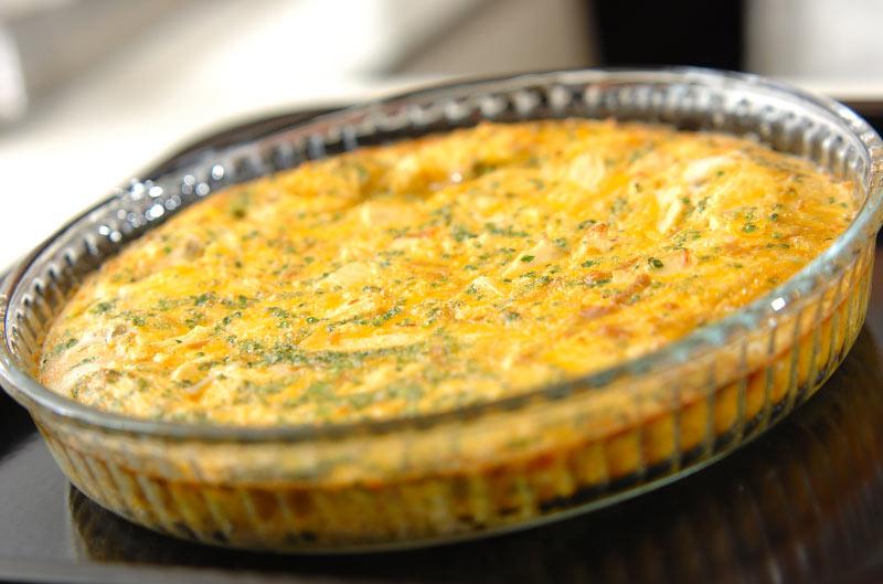 卵とツナのふんわり焼きの作り方の手順5