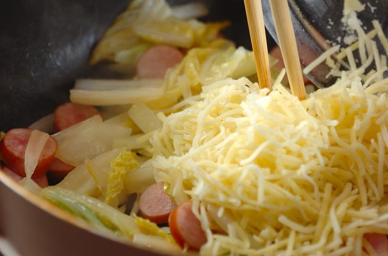 白菜のチーズ炒めの作り方の手順5