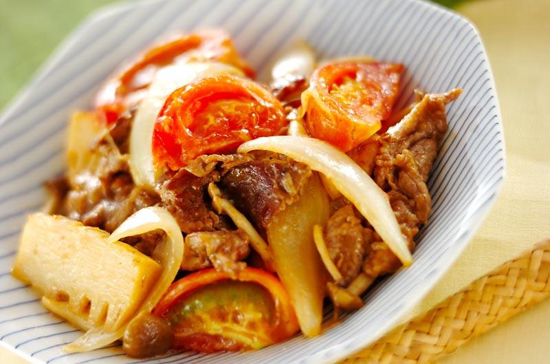 牛肉のトマト炒めの作り方の手順