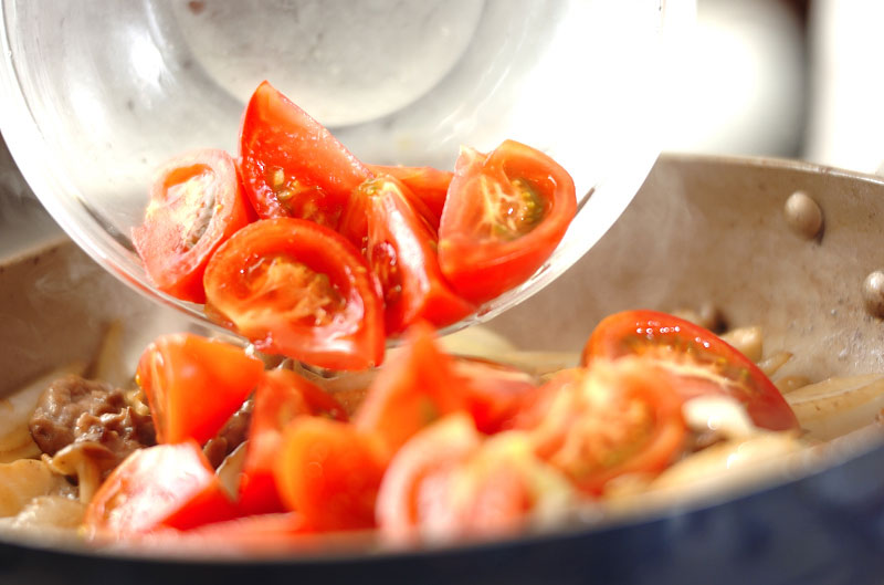 牛肉のトマト炒めの作り方の手順8