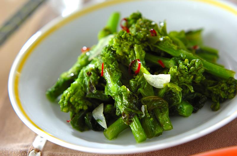 菜の花のニンニク炒めの作り方の手順