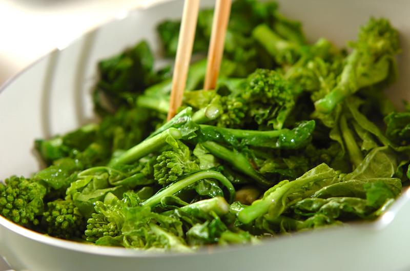 菜の花のニンニク炒めの作り方1