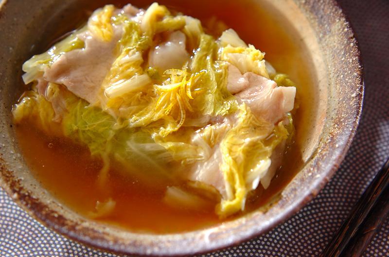 あんかけ白菜と豚肉の重ね蒸しの作り方の手順