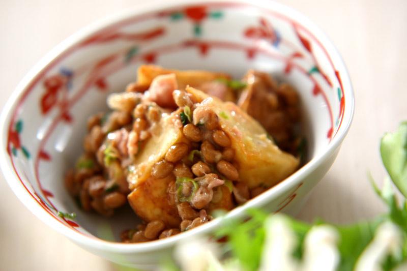揚げジャガのツナ納豆