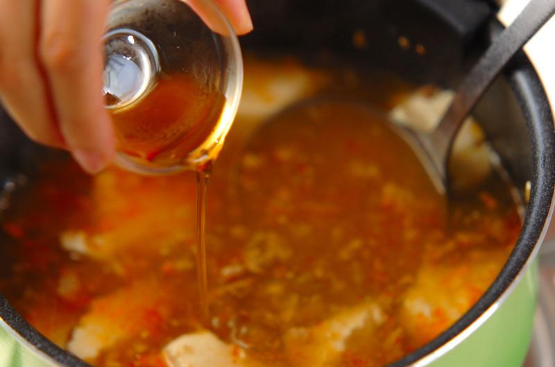 くずし豆腐のピリ辛スープの作り方3