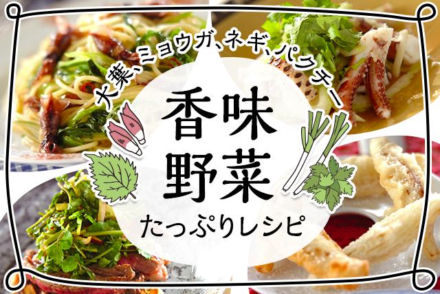 大葉、ミョウガ、パクチー…。香味野菜たっぷりレシピ