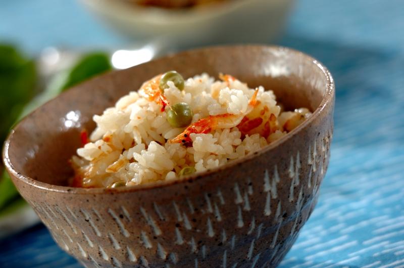 豆と桜エビのご飯の作り方の手順