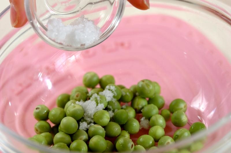 豆と桜エビのご飯の作り方の手順2