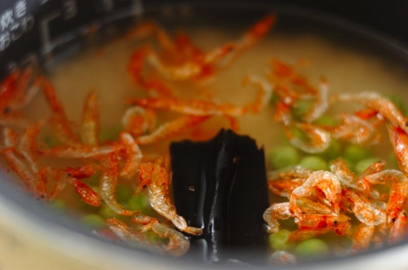 豆と桜エビのご飯の作り方の手順3
