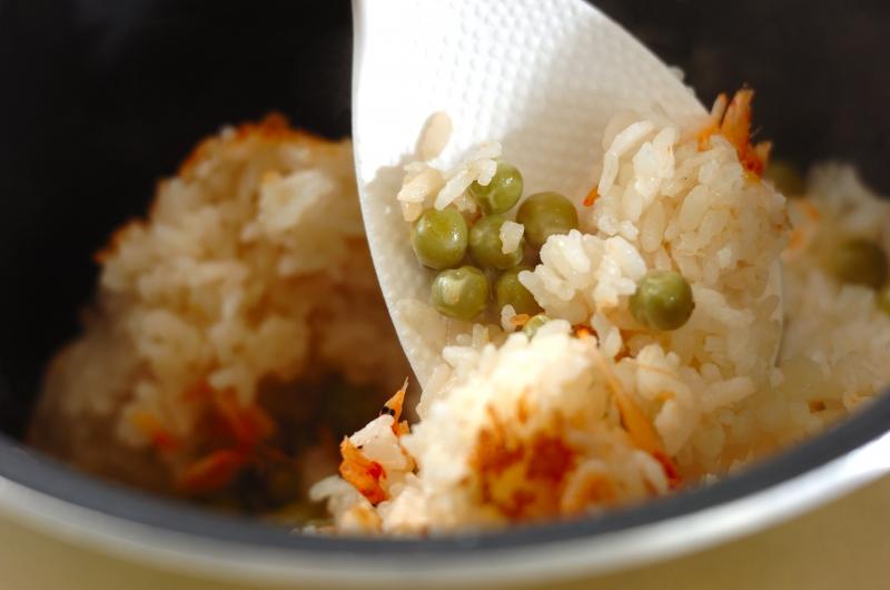 豆と桜エビのご飯の作り方の手順4