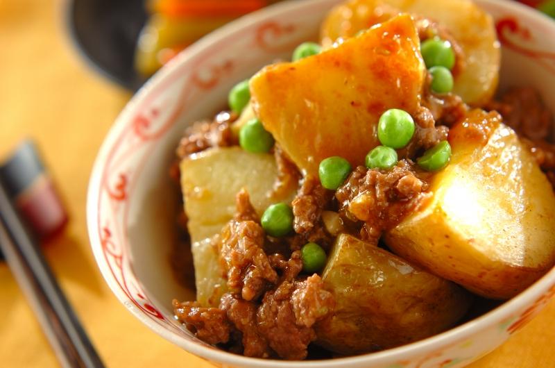 揚げジャガイモのピリ辛煮の作り方の手順