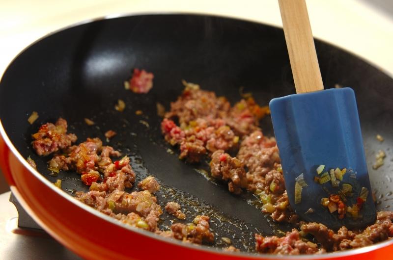 揚げジャガイモのピリ辛煮の作り方の手順6