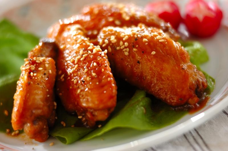 鶏手羽中の甘辛揚げ