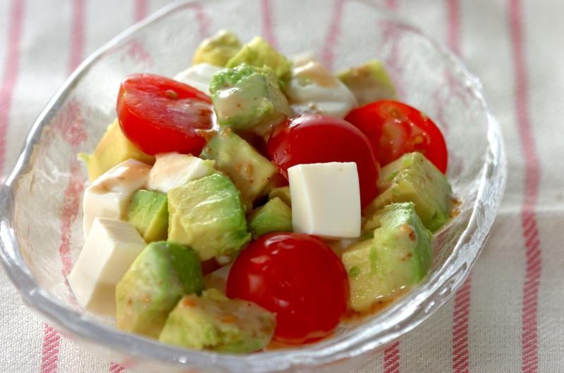豆腐サラダの作り方の手順