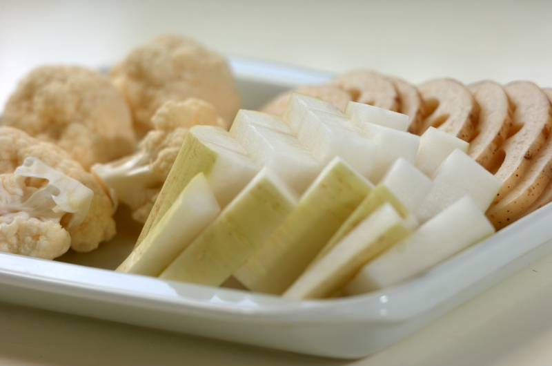 冬野菜のカレーピクルスの作り方の手順1