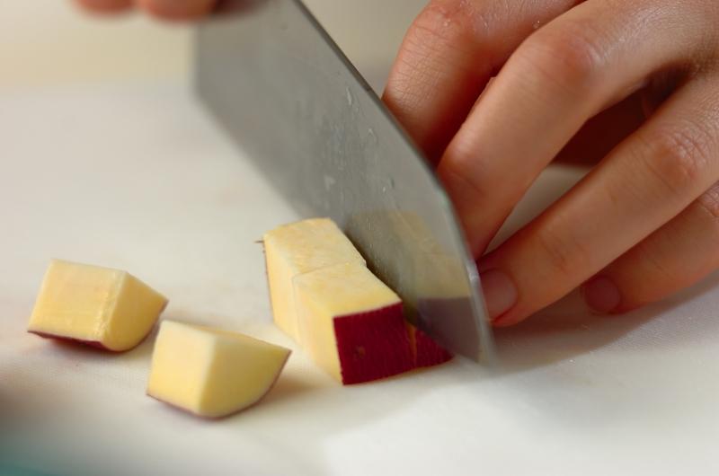 サツマイモとジャコの炊き込みご飯の作り方の手順1